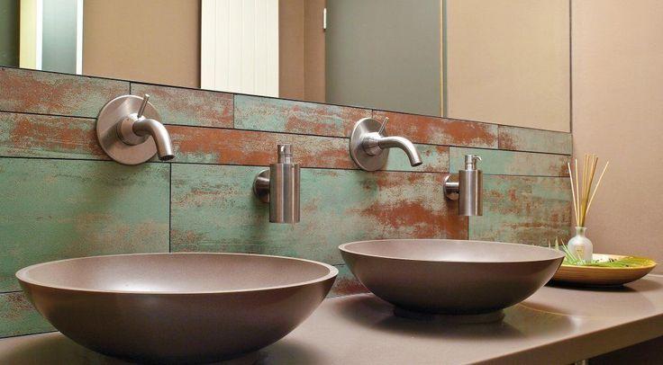 60 идей патины в интерьере: благородная старина http://happymodern.ru/patina/ Подобное оформление ванной комнаты подойдет для стиля лофт Смотри больше http://happymodern.ru/patina/