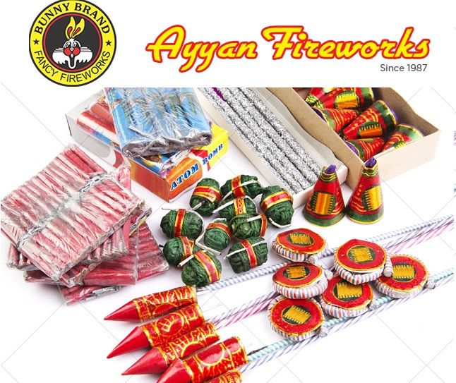 Buy exclusive Diwali firecrackers from Ayyan Fireworks in online