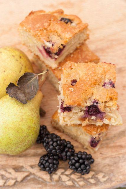 Blackberry pear traybake recipe pears and blackberries for Blackberry pear jam
