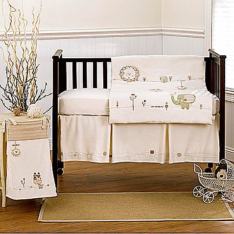 Nature's Purest™ Sleepy Safari crib bedding is a fun theme for your child's nursery.