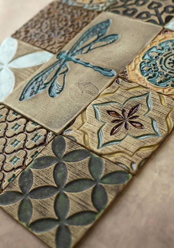 Handgefertigte Keramik rustikale bunten Fliesen f… – #backsplash #bunten #Flie…