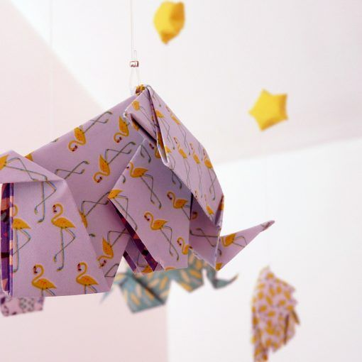 mobile origami cadeau de naissance DIY shop it yourself