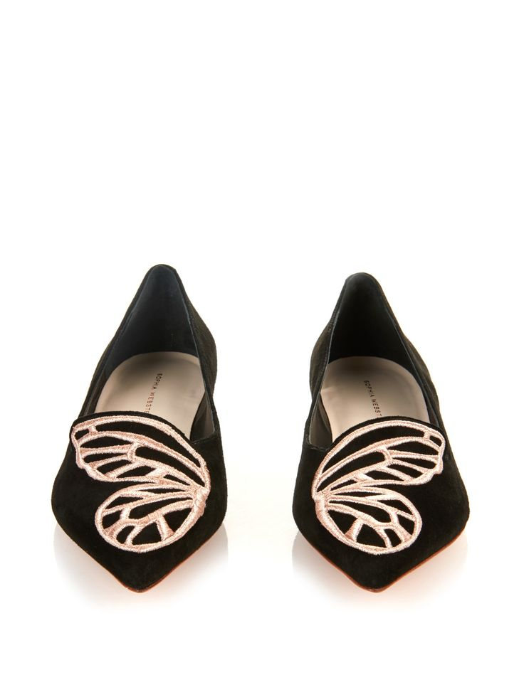 Bibi Butterfly suede flats | Sophia Webster | MATCHESFASHION.COM US