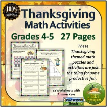 Best 25+ Thanksgiving math worksheets ideas on Pinterest ...