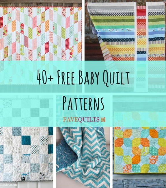 40+ Free Baby Quilt Patterns | Need a new quick project? Don't miss our collection of free baby quilt patterns!