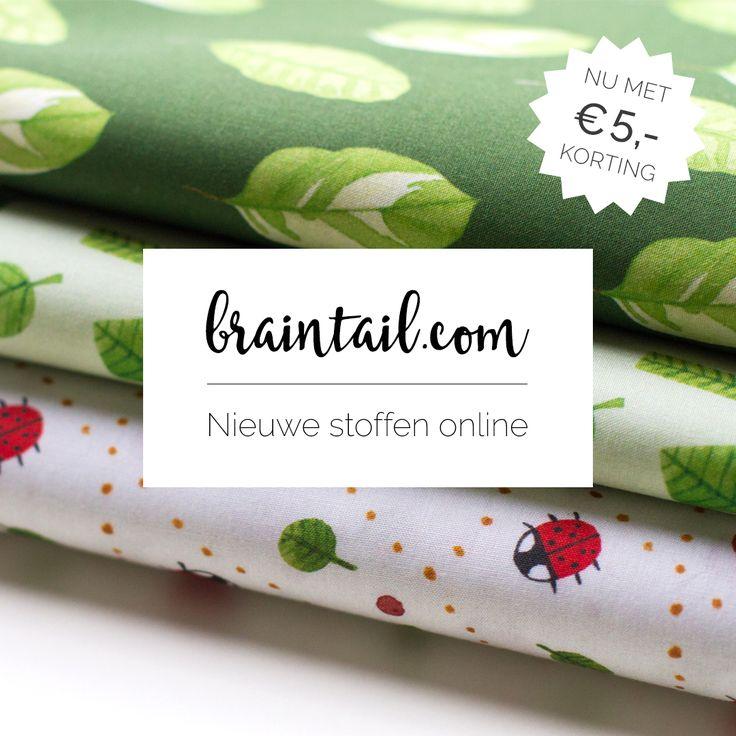 Nieuwe ecologische stoffen van 100% katoen, nu met €5,- korting!  Actie geldig t/m 31 januari 2017 //    New eco 100% cotton fabrics with €5,00 discount! Valid this month only!