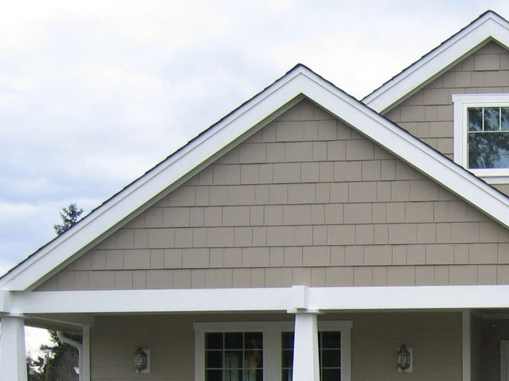 Hardie Shingled Gable With Frieze Board House Exterior