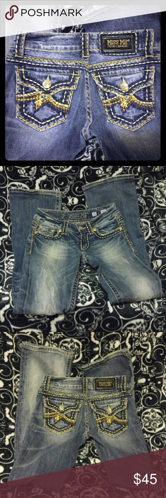 Miss Me Jeans 😍 In excellent condition and gorgeous!! From the Buckle store- Miss Me Irene Boot cut Women's Premium Designer Bootcut Jeans in size 25 with an inseam of 31. 😍😍 Miss Me Jeans Boot Cut