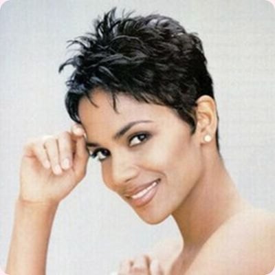 Halle Barry's cut pixie cut