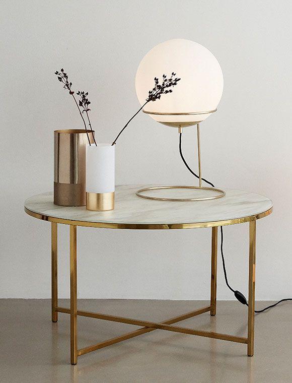 Flurlampe Gold Von Haœbsch Interior Modern Interior Table Interior
