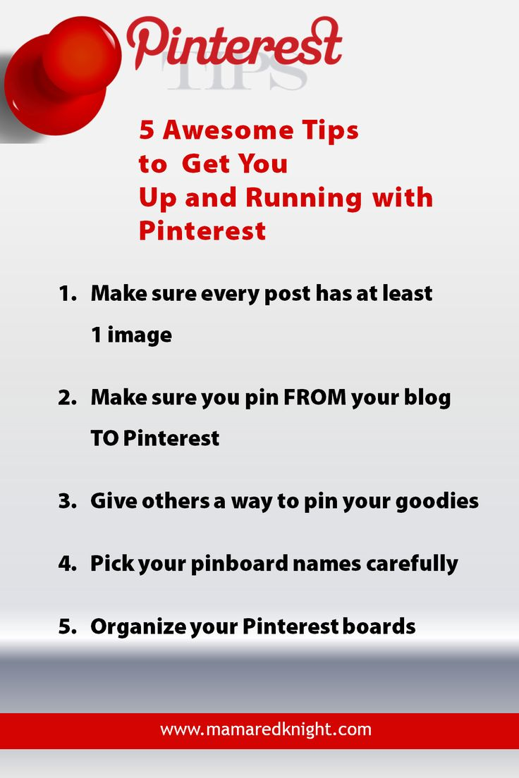5 awesome tips to get you up and running with Pinterest