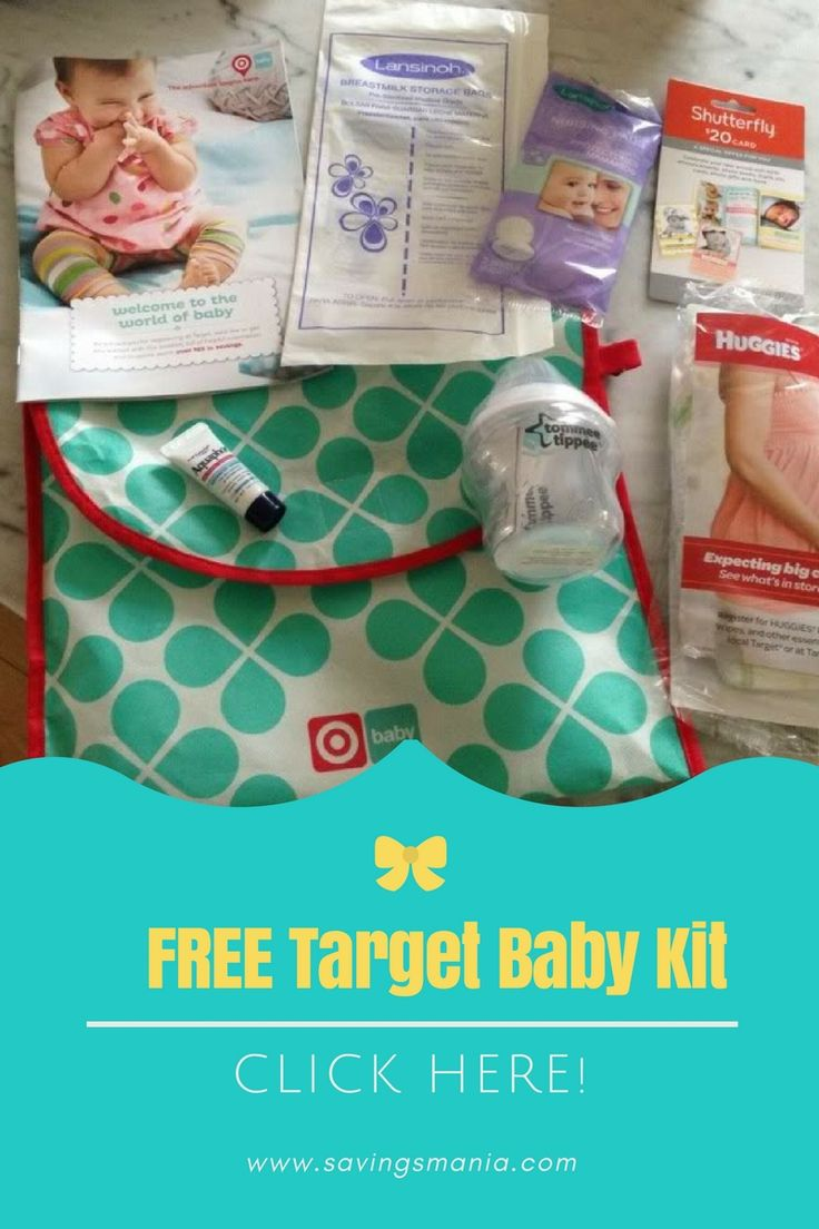 Click here to get this FREE baby registry kit from Target- $50 Value!    Munchkin bottle ($9.99 value) MAM Newborn pacifier ($5.99 value) Honest Wipes and Diapers sample pack ($2 value) Lansinoh samples Cute bag and MORE!