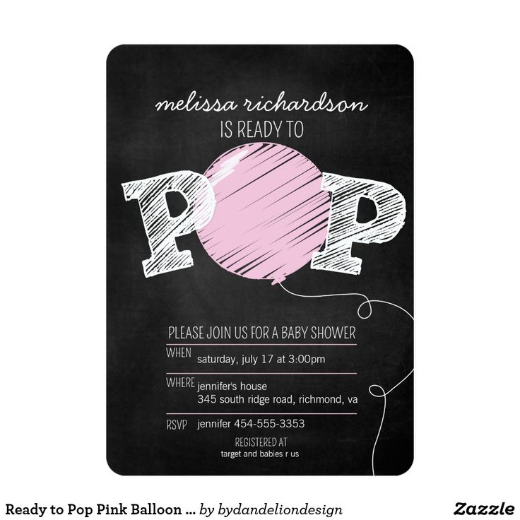 free printable camo baby shower invitations templates%0A Ready to Pop Pink Balloon Girl Baby Shower Invite Ready to Pop Big Pink  Balloon Chalkboard