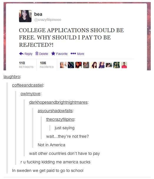 College applications in the US
