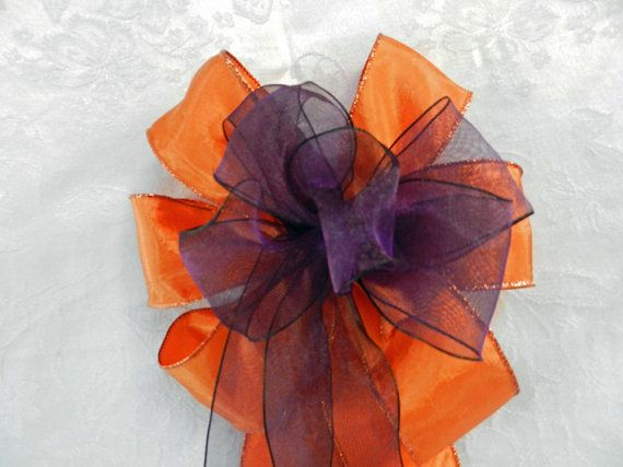 Fall Wedding/ Pew Bows set of 12 Burnt Orange by creativelycarole, $132.00