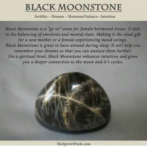 ∆ Moonstone...Black moonstone Larvikite