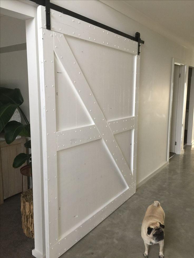 Barn doors are finally up!  #barndoors #white #doors #homedesign #blackandwhite