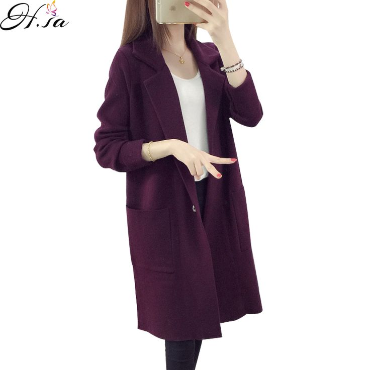 2016 Winter Long Sweater Coat for Women Turn Down Formal Long Cardigans Christmas Sweaters Oversized Coat. Click visit to buy #WomenCardigan
