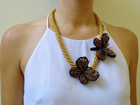 Collana Artigianale Farfalle  Necklace Handmade Batterflies