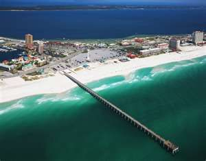 Pensacola Beach, Florida- Oh how I miss these white sandy beaches and warm Gulf water.  San Diego beaches have nothing on the Florida coast