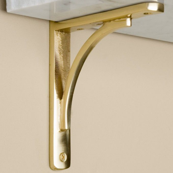 polished brass shelf bracket wouldnt this look great with a marble shelf