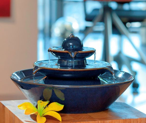 Pisa Blue - Ceramic Indoor Water Feature