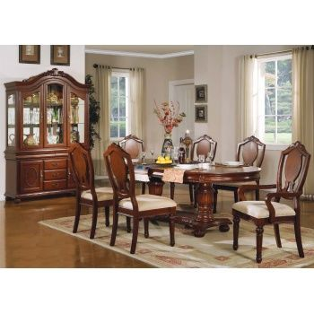 36 best images about dining room on pinterest chrome for Solid wood formal dining room sets