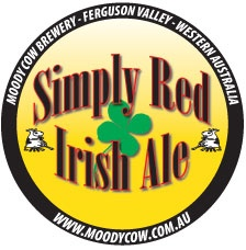Another new beer logo for the Moody Cow Brewery - this time it's their absolutely fabulous Simply Red Irish Ale. Probably one of the best beers I have ever had the pleasure of tasting!