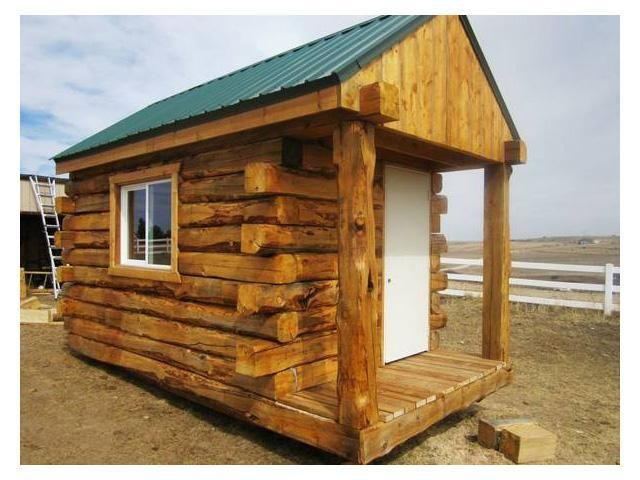 High quality portable log cabin tiny houses pinterest for Elevated log cabin