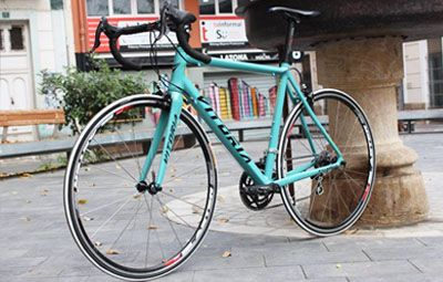 Bicicleta carretera VITORIA CYAN – Bikes & City