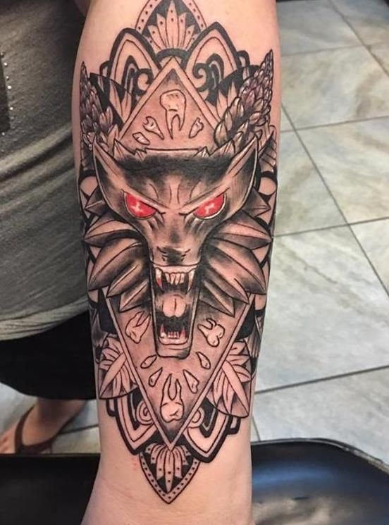 Witcher 3 Tattoo: (x-post R/tattoos) My Wolf Medallion Tattoo From Matt