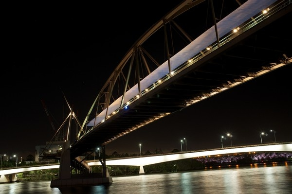 Brisbane.  South Bank at night