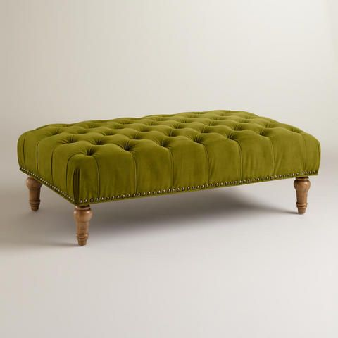 Apple Green Marcelle Tufted Ottoman | World Market $250