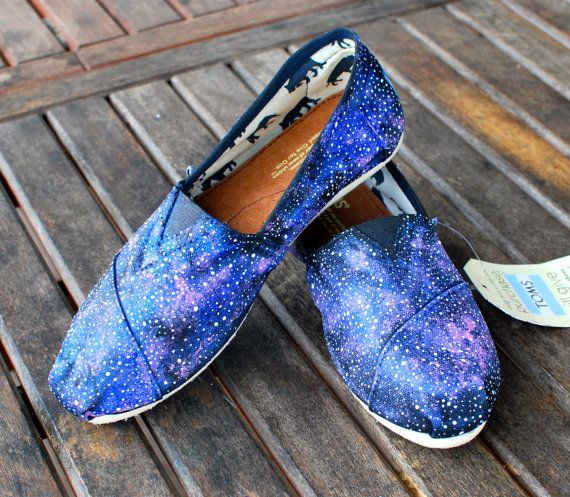 Galaxy TOMS shoes by BStreetShoes on Etsy.