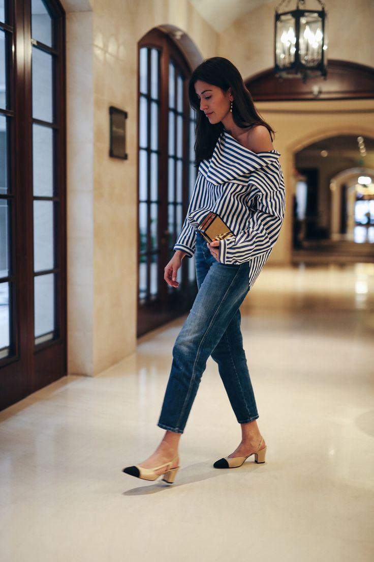 stripes block heels Women's Jeans - amzn.to/2i8XN7s Clothing, Shoes & Jewelry - Women - women's jeans - http://amzn.to/2jzIjoE