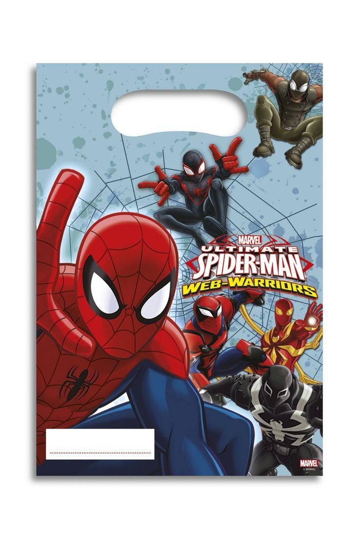 x6 bustine per caramelle Spiderman™ su VegaooParty, negozio di articoli per feste. Scopri il maggior catalogo di addobbi e decorazioni per feste del web,  sempre al miglior prezzo!