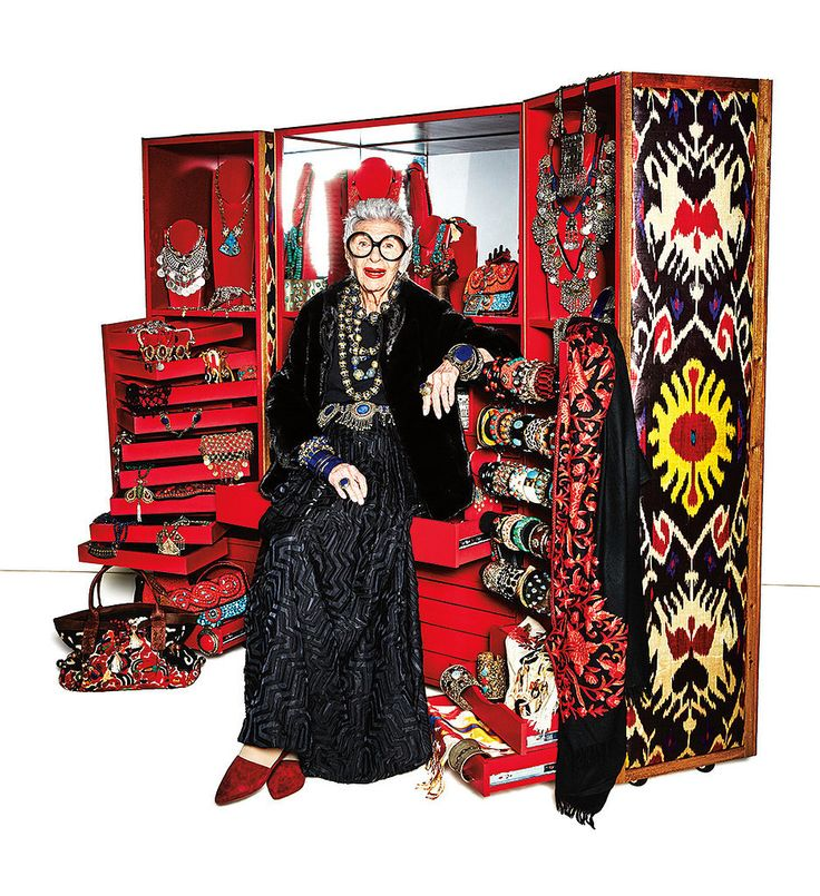 """The Gift: """"'More is more, less is a bore!' is the style mantra of 93-year-old fashion icon Iris Apfel. Her ..."""