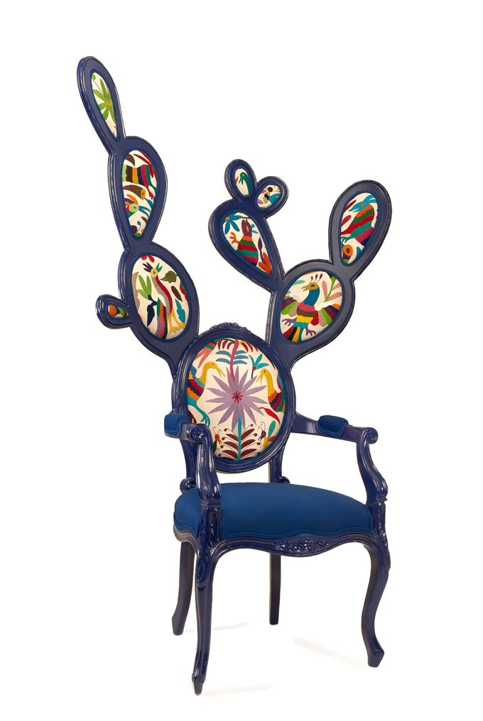 Prickly Pear Chair.  This is the dream.    The King: Color Art, Pairings Chairs, Gonzalez Wohler, Interiors Design, Art Design, Valentina Gonzalez, Cactus Chairs, Prickly Chairs, Prickly Pears Art