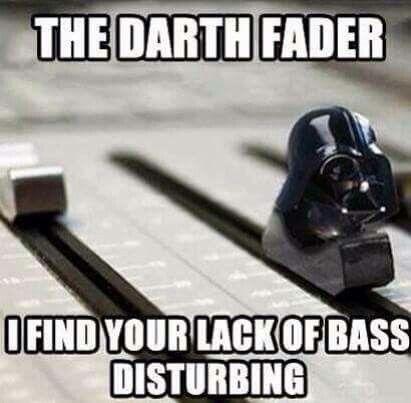 Dark Lord Needs Bass #starwars #darklord