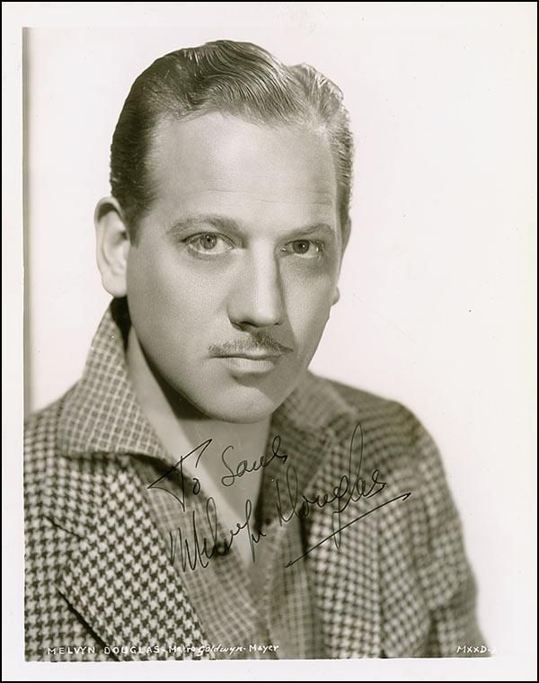 Melvyn Edouard Hesselberg (April 5, 1901 – August 4, 1981), better known as Melvyn Douglas, was an American actor who came to prominence in the 1930s as a suave leading man, perhaps best typified by his performance in the 1939 romantic comedy Ninotchka with Greta Garbo.