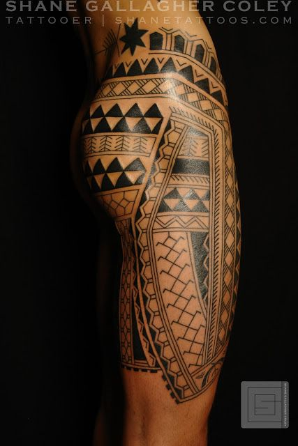 Filipino leg tattoo by Shane Gallagher Coley, Chapel Tattoo, Melbourne