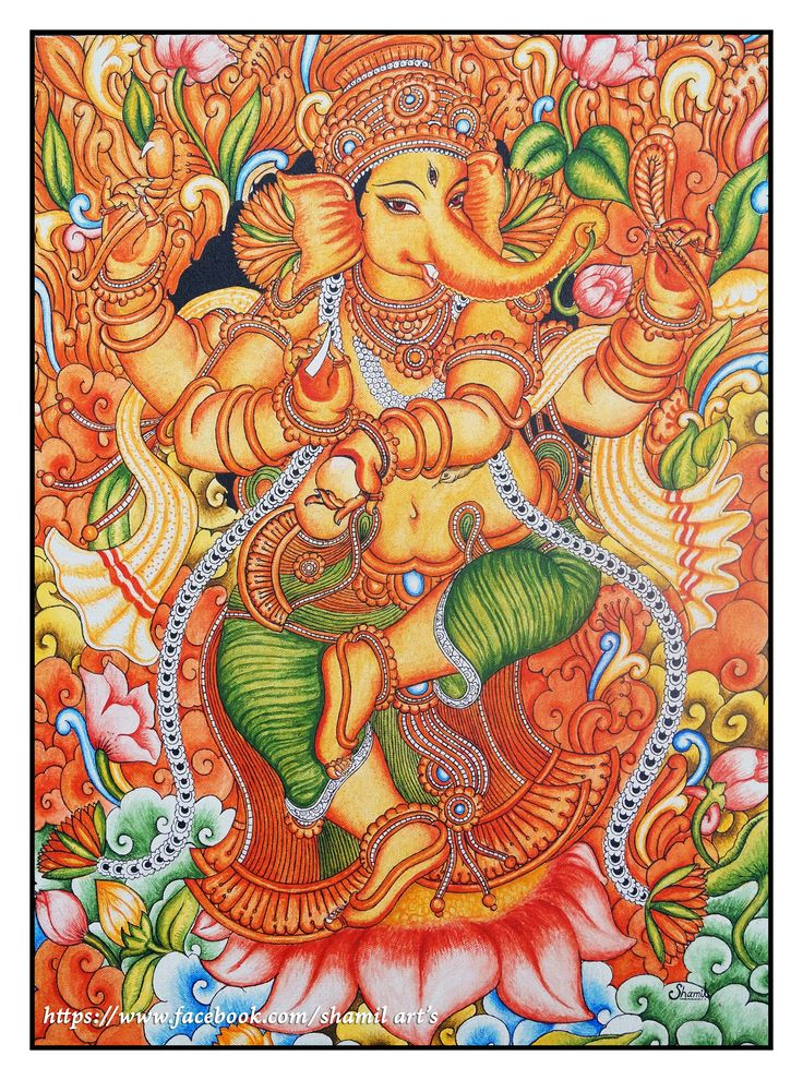387 best images about ganpati bappa moryaaa on for Mural art of ganesha