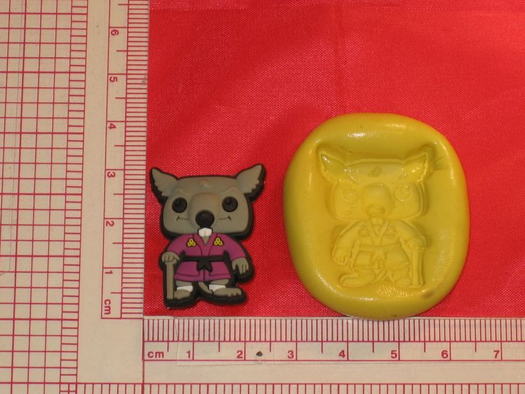 Ninja Turtles Rat Silicone Push Mold 140 Cake Candy Chocolate Resin Sugarcraft #LobsterTailMolds