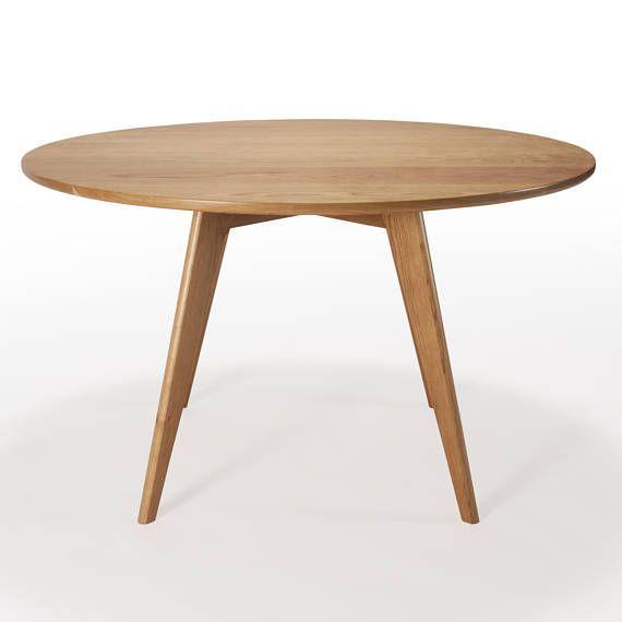 Round Dining Table Mid Century Modern