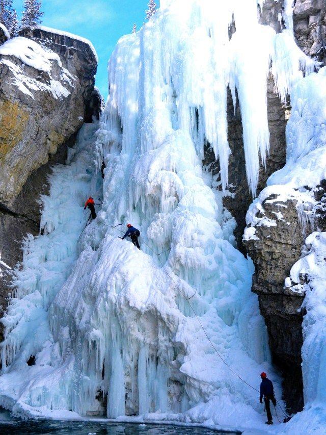 Ice climbing Banff National Park