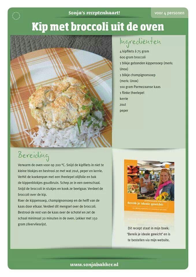 Kip met broccoli uit de oven, Sonja Bakker