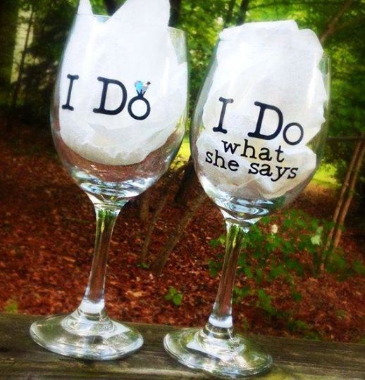 Wedding Wine Glasses, Bride And Groom, Personalized Gift