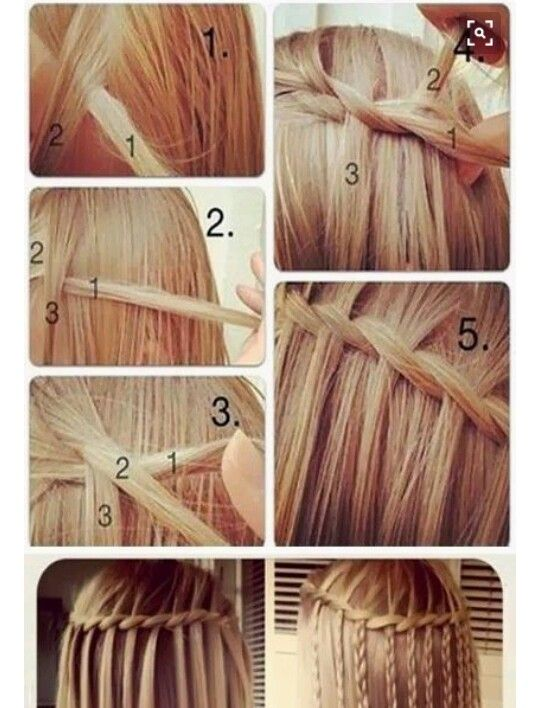 Follow #Helena Swart for more beautiful hairstyles #waterfall braid #hairstyles for long hair