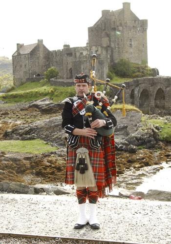 Spud the Highland Bagpiper, Scottish Wedding Ceremony Music Bagpiper Wedding Reception Entertainment