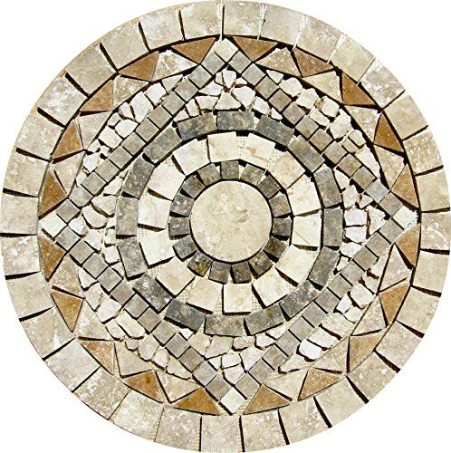 Tumbled Travertine Indoor or Outdoor, Floor or Wall Art Medallion Mosaic Stone Deals http://www.amazon.com/dp/B015D76A3A/ref=cm_sw_r_pi_dp_-nG.vb0282XTV